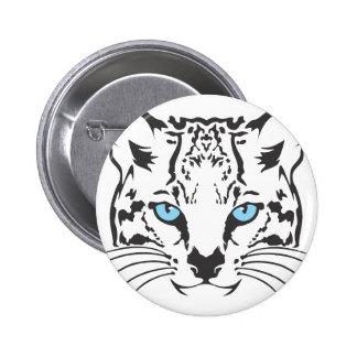 Serious Ocelot Cat Button