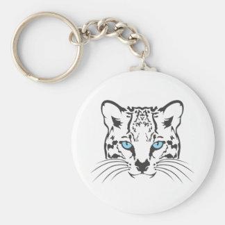 Serious Ocelot Cat Keychain