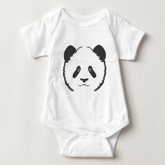 Serious Panda Bear Baby Bodysuit