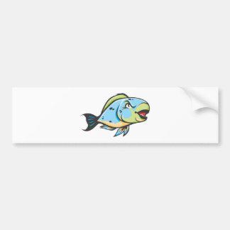 Serious Parrot Fish Bumper Sticker