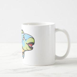 Serious Parrot Fish Coffee Mugs