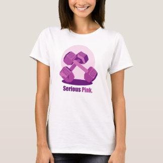 Serious Pink Dumbbells T-Shirt