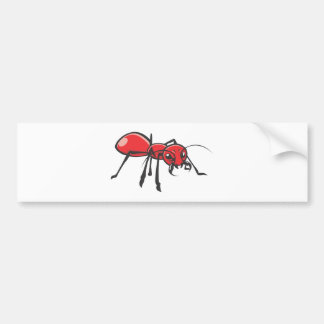 Serious Red Ant Insect Bumper Sticker