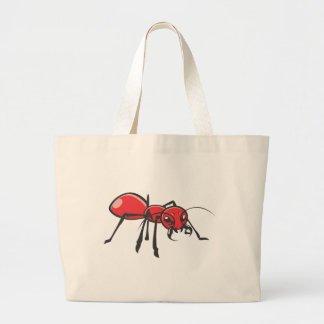 Serious Red Ant Insect Large Tote Bag
