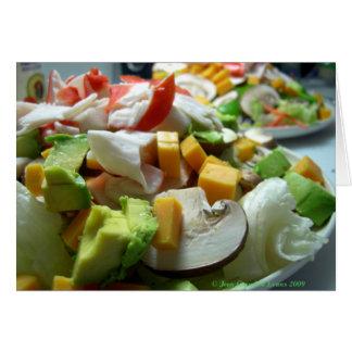 Serious salad card