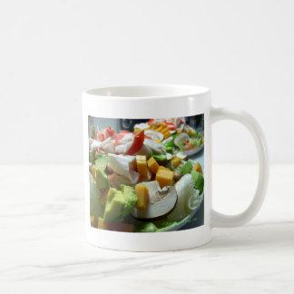 Serious salad basic white mug