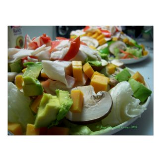 Serious salad print