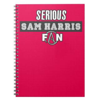 Serious Sam Harris Fan Notebook