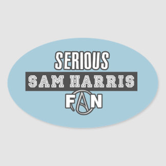 Serious Sam Harris Fan Oval Sticker