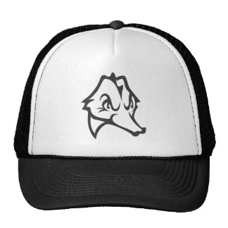 Serious Seahorse Fish in Black and White Trucker Hat