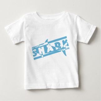 Serious shark fanatic baby T-Shirt