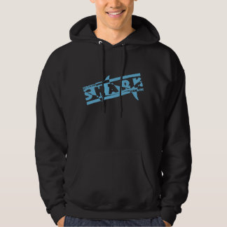 Serious shark fanatic hooded pullover