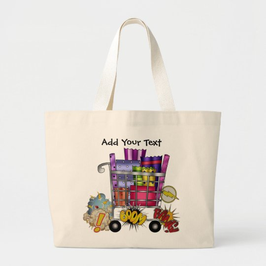 Serious Shopper - SRF Large Tote Bag