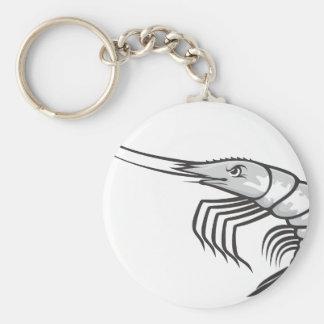 Serious Shrimp Basic Round Button Keychain
