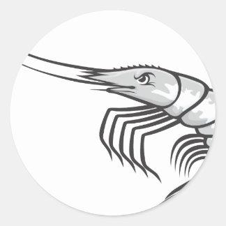Serious Shrimp Classic Round Sticker