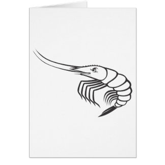 Serious Shrimp in Black and White Card