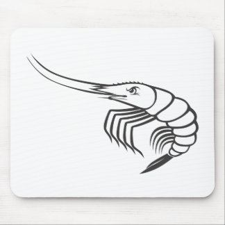 Serious Shrimp in Black and White Mouse Pad