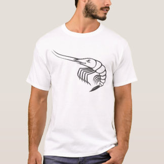 Serious Shrimp in Black and White T-Shirt