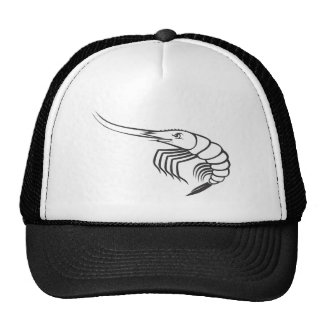 Serious Shrimp in Black and White Trucker Hat