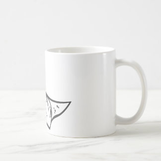 Serious Stingray Fish in Black and White Coffee Mug