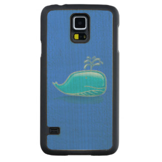 Serious Whale Carved® Maple Galaxy S5 Slim Case