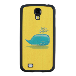 Serious Whale Carved® Maple Galaxy S4 Slim Case