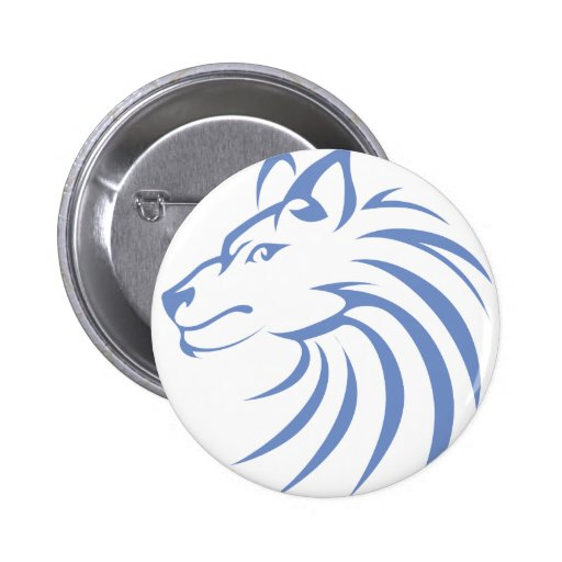 Serious Wolf 2 Inch Round Button