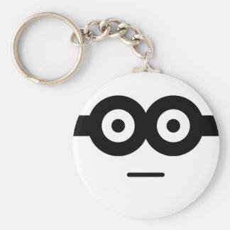 Seriously Basic Round Button Keychain