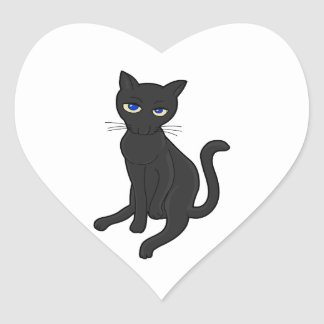 Seriously? Cat Heart Sticker