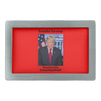Seriously Constipated - Anti Trump Rectangular Belt Buckle