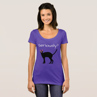 Seriously? Funny Cat T-Shirt