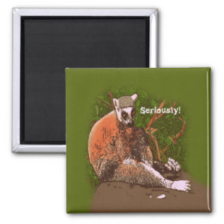 Seriously Funny Lemur Magnet