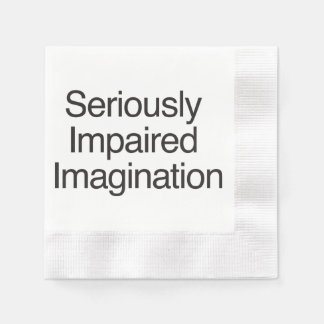 Seriously Impaired Imagination.ai Paper Napkin