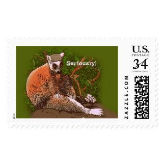 Seriously! Lemur Postage Stamp