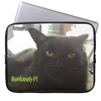 """""""Seriously?!"""" Mimi Laptop Sleeve 15 inch"""