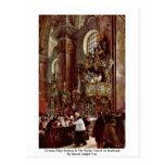 Sermón alemán del púlpito en la iglesia parroquial postal