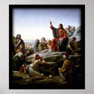 Sermón de la montaña bíblico poster