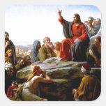 Sermón de la montaña de Bloch Calcomania Cuadradas Personalizada