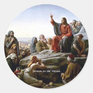 Sermón de la montaña pegatina redonda