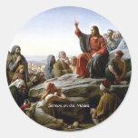 Sermón de la montaña pegatinas redondas