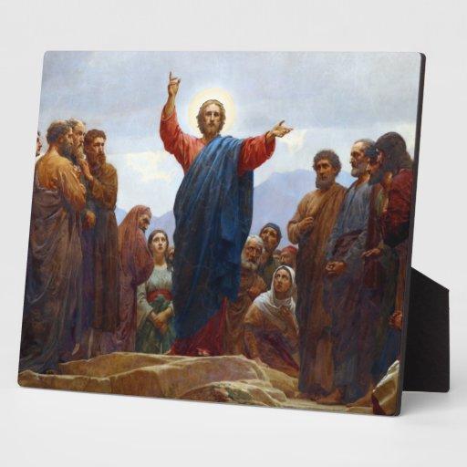 Sermón de la montaña placas con foto