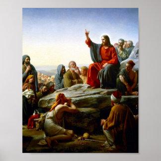 Sermón de la montaña póster