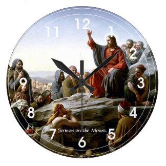 Sermón de la montaña reloj de pared