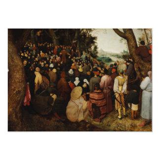 """Sermón de St John el Bautista de Pieter Bruegel Invitación 5"""" X 7"""""""