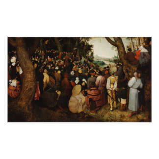 Sermón de St John el Bautista de Pieter Bruegel Foto