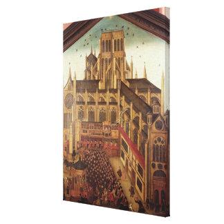 Sermon del Dr J rey en la catedral del St Pauls Impresion En Lona