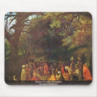 Sermon Of John The Baptist By Adam Elsheimer Mouse Pad