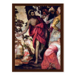 Sermon Of John The Baptist By Veronese Paolo Post Card