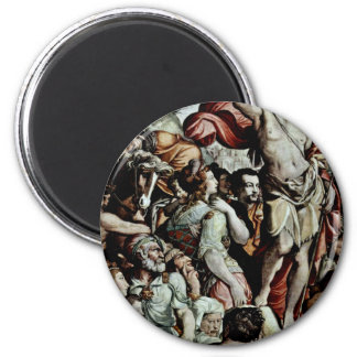 Sermon Of John The Baptist, Detail By Conte Jacopo Refrigerator Magnets