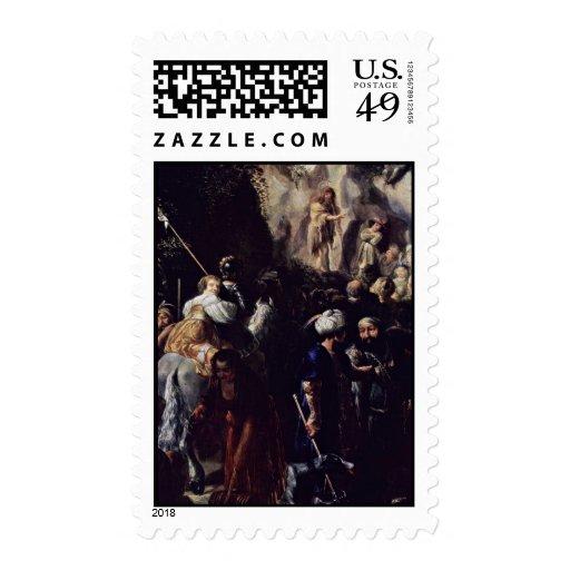 Sermon Of John The Baptist, Detail By Hülzmann Joh Postage Stamps